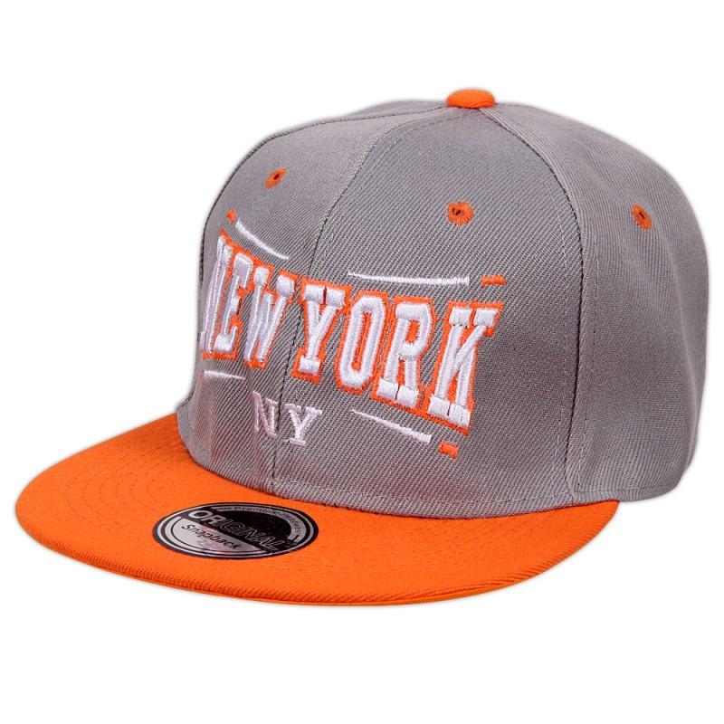 Sapca baseball, New York, gri, poliester, ABC02G