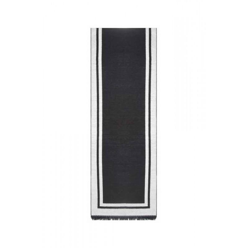 Esarfa barbati, negru alb, vascoza, 33 x 180 cm, E105-02