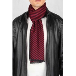 Esarfa barbati, negru rosu, vascoza, 33 x 180 cm, E106-10 - Esarfe barbati